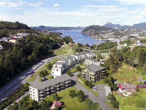 22 av de 59 boligene som er lagt ut for salg i BOBs prosjekt Søreidpollen, er leie til eie.