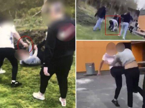 En 16 år gammel gutt ble slått flere ganger i hodet og kroppen under den slagsmålet på Olsvikåsen videregående skole 2. mai i år.