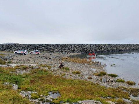 Fra redningsaksjonen mot Kjeldebu/Finse. En mann som teltet ved Skåltjørna på Hardangervidda måtte reddes av Røde kors og politiet natt til søndag.