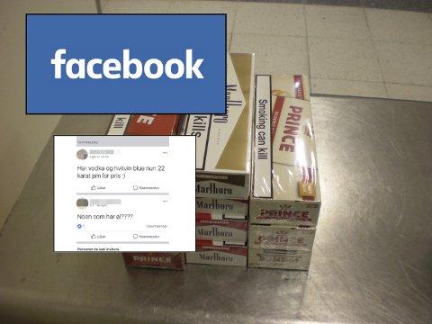 Politiet har gjort store beslag av sigaretter, snus, sprit og øl. Mannen brukte blant annet Facebook i salgsaktiviteten.