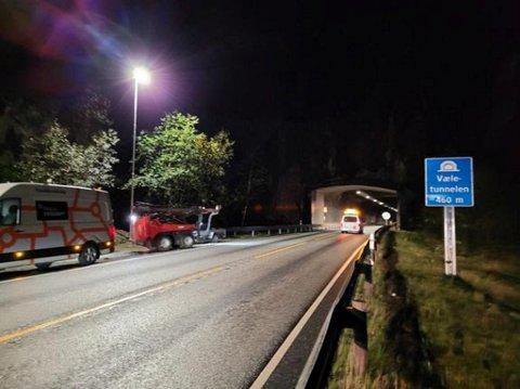 Vælestunnelen vert stengt nattestid i uke 44.