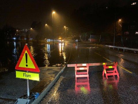 Ved andedammen i Sædalen flommer det over stort sett hvert eneste år. Dette bildet ble tatt i januar 2020.