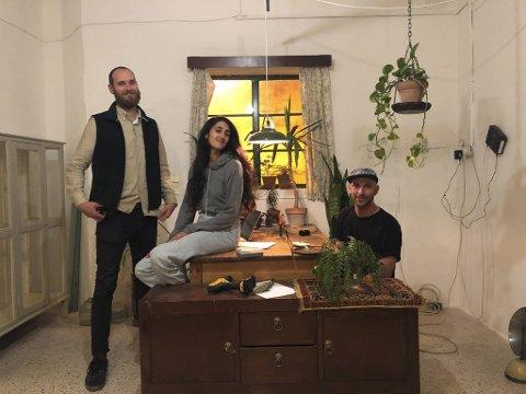 Vegard Flatøy, Zoe Camilleri og Keit Bonnici er tre av arrangørane bak «Lockdown Festival».