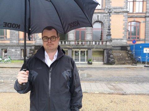 Haakon Thuestad, strategi- og kommunikasjonsdirektør i Kode, beklager tweeten om NLM.