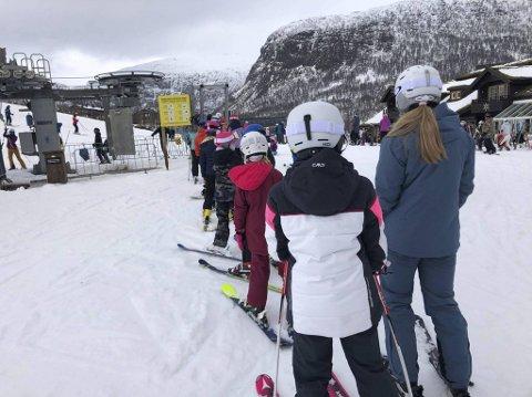 Vinterferietrafikken har vært upåklagelig på Voss. Både i Bavallen og Myrkdalen (bildet) har dagskortene stort sett vært utsolgt.