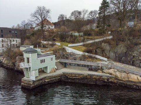 Sandviken sjøbad er over 100 år gammelt, og ligger like ved Gamle Bergen.