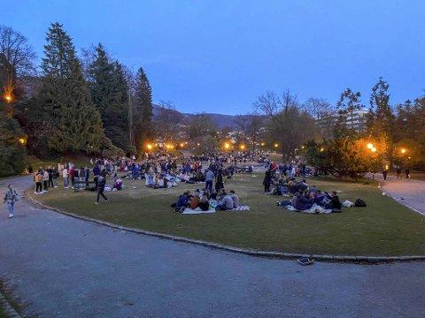 Slik så det ut i Nygårdsparken 1. mai.