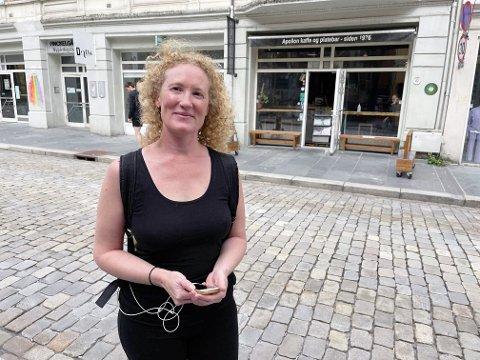 Cecilie Lauritsen var lettet over å komme uskadd fra hendelsen.