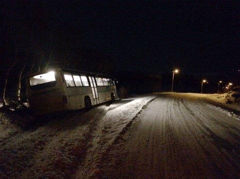 Det var ingen passasjerer i bussen.