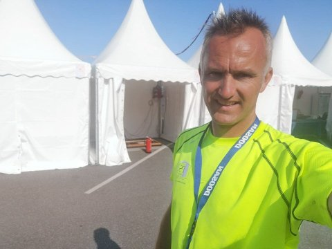 Lager til bygdefest: Per Erik Haga (bildet) fra PS Selskapsutleie går sammen med Per Vervik og lager til bygdefest på Randaberg 19. september 2020.