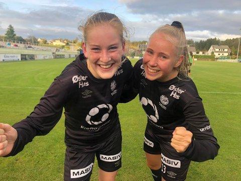 Nettet: Elise Martinsen og Lea Kraft Vistnes tegnet seg begge på scoringslisten i første omgang i kampen mot Egersunds.