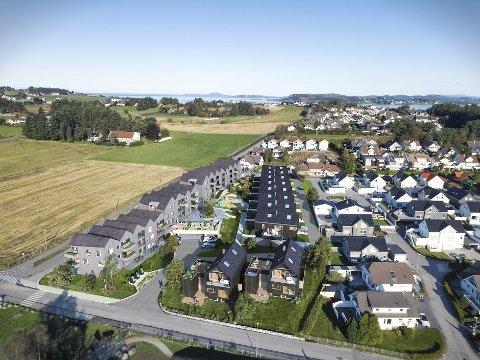 Ryggstraen: Slik skal boligprosjektet på Grødem i Randaberg ut.