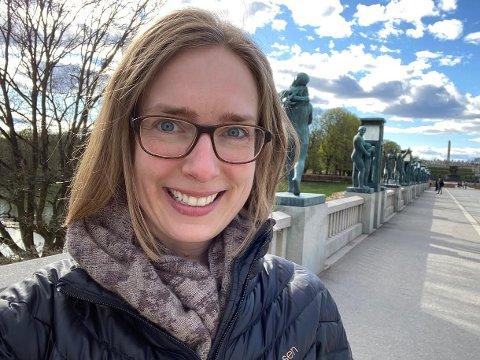 Lørdagstur: - Livsgnistturen gikk til Frognerparken fra hybelen min her i Oslo, forteller næringsminister Iselin Nybø.