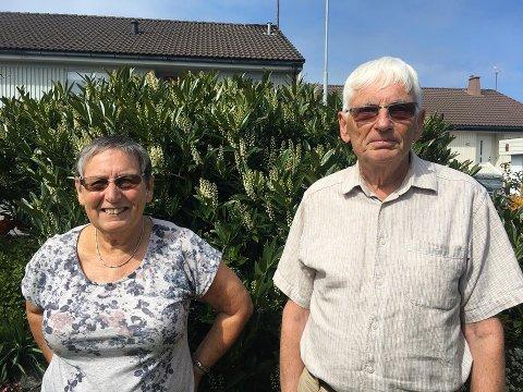 Stolt: Torhild og Øivind er stolt over hagen sin, som ved en tidligere anledning har vært presentert på TV Vest.