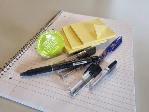 Kaffefløte, kulepenner og kladdebøker er blant det som skal handles gjennom ny leverandør.
