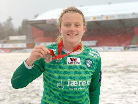 Merittert: Susanne har både sølv og bronse fra Toppserien med Klepp Elite.