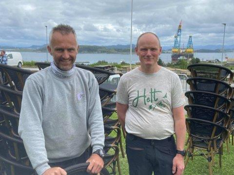 Konsert: Per-Erik Haga (t.v.) og Kjell Arvid Jøssang er klare for fest på Randabergfjellet