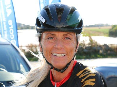 MOTVIND: Selv om Siv Hauge skal sykle i motvind, ser hun fram til å ta fatt på sykkelrittet.