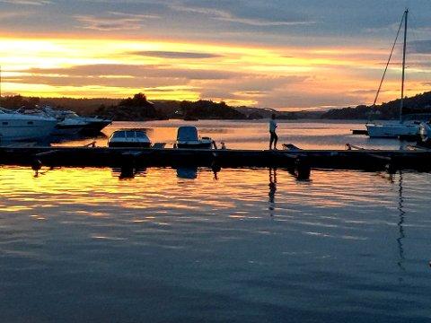 Dette bildet er fra havna i Vikersund.