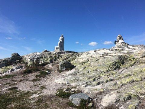 ENDA BEDRE: Stien til Madonnastatuen i Trillemarka blir enda bedre, etter at Sparebankstiftelsen DNB har bevilget nok en million til prosjektet.