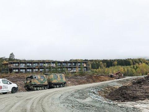 SNART FERDIG: Norelia leilighetshotell i Krødsherad står ferdig i månedsskiftet og skal være boliger for sesongarbeidere på Norefjell Ski & Spa.