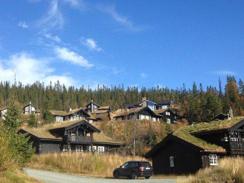 STOR AKTIVITET: Byggeaktiviteten i Krødsherad – og særlig på Norefjell – betegnes som høy. Her fra ett av de mer etablerte hytteområdene på fjellet.