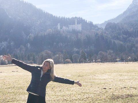 50 ÅR: Bursdagen 22. mars ble tilbragt på slottet Neuschwanstein (i bakgrunnen) i Bayern, og på et spa-hotell i nærheten.