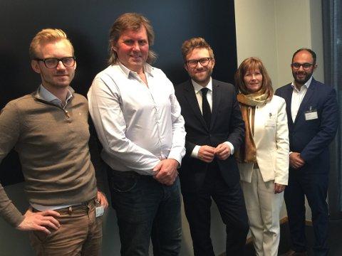 MØTE PÅ STORTINGET: Mandag hadde Adrian Tollefsen, Roar Paulsrud, Stefan Heggelund, Ann Sire Fjerdingstad og Adnan Afzal møte på Stortinget.