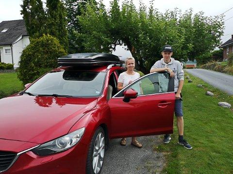 SKREMMENDE OPPLEVELSE: Hanne Jorun Aamodt og sønnen Oliver Aamodt Grønhovd hadde en skremmende opplevelse i trafikken tirsdag kveld.