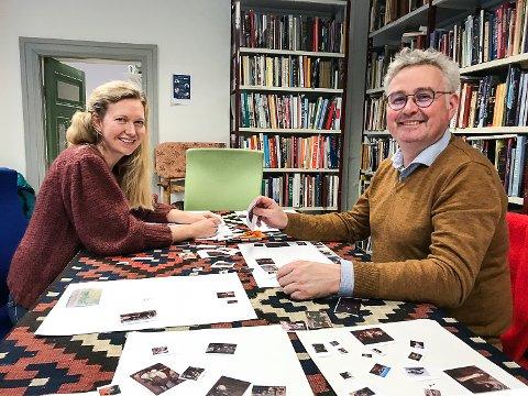 UNIK SJANSE: Kuratorene Sandra Lorentzen og Sverre Følstad samarbeider med Tone Sinding Steinsvik om å sette sammen en utstilling fra Nasjonalmuseets samling. – Vi er som barn i en godtebutikk, sier Sandra.