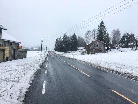 Fylkesvei 287, dårlig vei, Simostranda, Sigdalsveien