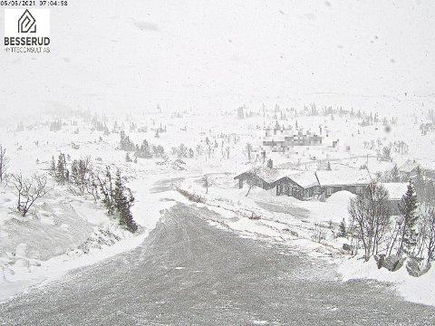 BESSERUD: Slik ser det ut ved Besserud i Eggedalsfjellet onsdag morgen.