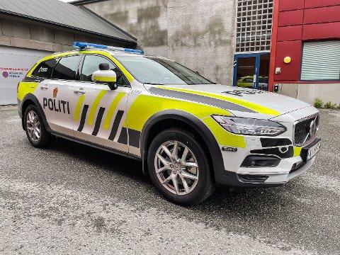 NY BIL: Politiet i Modum har fått ny patruljebil. Denne uken skal de ansatte gjøre seg kjent med den.