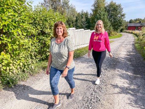 KURS-SUKSESS: Cathrine Oldebråten Hansen (foran) deltok på Diabetes-kurs hos Maylinn Lykken og Frisklivssentralen. Det har gjort henne mer bevisst i hverdagens valg.