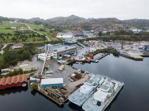 I DIALOG: Bertelsen & Garpestad ønsker å utvide med et verksted på Hovland. Nå legges det en plan i samarbeid med Eigersund næring og havn KF.