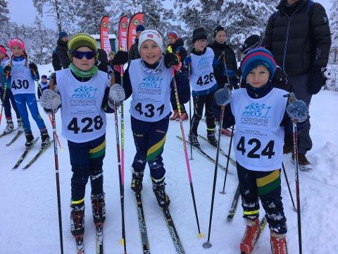 Håkon Kjølberg (t.v.), Gabrielle Vikeså Kjølberg og  Ola  Friestad er klar for sesongopning på Hovden.