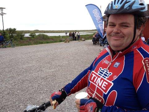 Trygve Brådli har hatt en fin tur til Ogna, men føler seg likevel ikke helt sikker på at han kommer i mål i Sandnes denne gangen. Dette er fjerde gang han sykler Nordsjørittet.