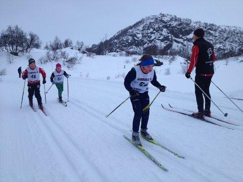 Malene Gjedrem i fin stil på Ådneram under søndagens BIL-renn.