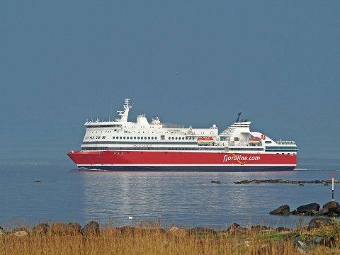 """HALVFULL: I oppstartsfasen har Fjord Line valgt og kun å seile med et halvfullt """"Oslofjord"""" av total gjestekapasitet. Dette har de valgt å gjøre for at mannskapet lettere skal få innarbeide rutinene."""