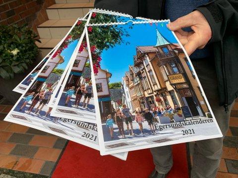 NY: Egersundskalenderen er trykket i et opplag på 500.