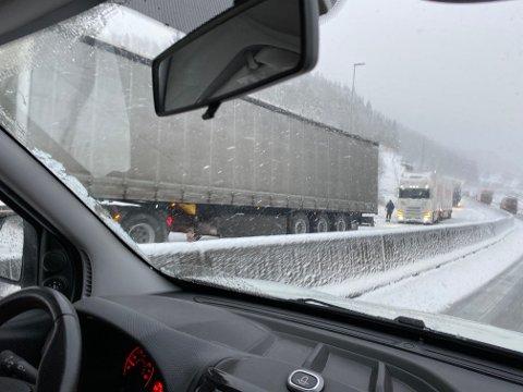 VINTERFØRE: Slik såg det ut i Skjebadalen ved Helleland rundt klokka 15 måndag.