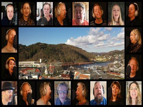 """DUGNAD: Artistar i eller med sterk tilknyting til Egersund oppfordrar til """"Å vær en venn""""."""