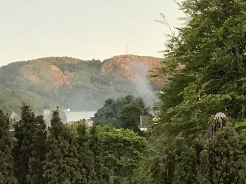 Brann i Årstaddalen tirsdag kveld.