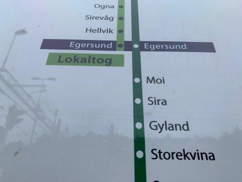 DYRT: Det tar seks minutter å ta toget mellom Moi og Sira. Er du sein med å bestille billett, kan de bli en dyr tur.