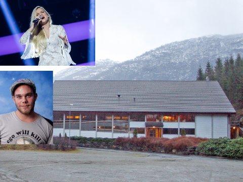 TYNT I REKKENE: Sandra Lyng trekt seks publikummarar til Bjerkreim samfunnshus i helga, fire høyrde Magnus Bokn.