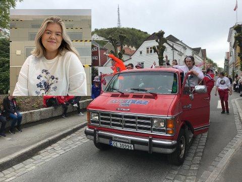 VENTER FORTSATT: Blårusspresident Ine Sæveland Rasmussen fra Dalane videregående skole forteller at russefeiringa fortsatt står på vent. Nå håper de at de kan starte russetida 1. mai.