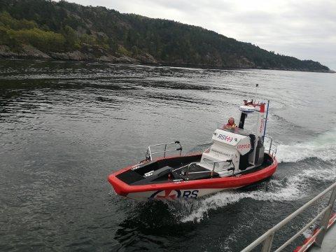 NY I VÅGEN: Denne åtte meter lange redningsbåten er nå på plass hos Redningsselskapet i Egersund.