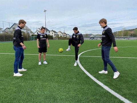 OPPRYKK: Hallvar Steinskog (t.v.), Sondre Tollefsen, Kujtim Ismaili og Eskil Furre Gjerde er klare for å gi alt for å etablera seg på a-laget til EIK.