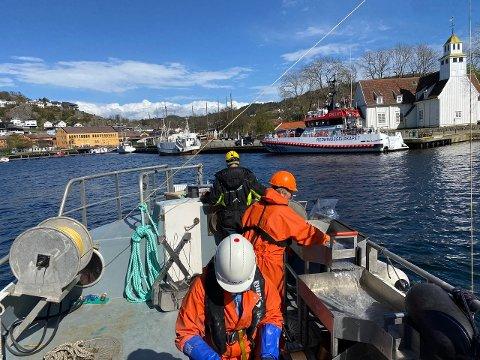 TOK PRØVER: Hvor forurenset er egentlig Vågen i Egersund i 2021? Norsk institutt for vannforskning skal finne svar.