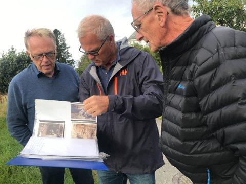 TRENGER HJELP: Kjell Rek, Finn Nesvold og Gudmund Holmen vil gjøre historien til området rundt malmbanen i Sokndal mer tilgjengelig. Da trenger de din hjelp.